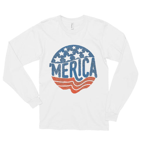 'MERICA | Legendary American Patriot Long sleeve t-shirt (unisex) - AshoppingZ.com - 1