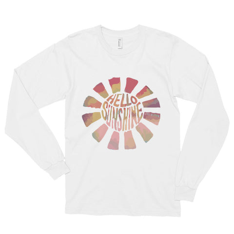 Hello Sun Watercolor Long sleeve t-shirt (unisex)--AshoppingZ