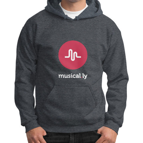 'musical.ly fan' Men's Gildan Hoodie Dark heather AshoppingZ.com