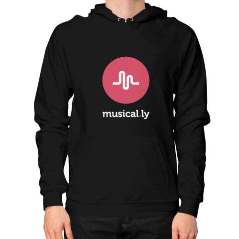'musical.ly fan' Men's Hoodie Black AshoppingZ.com