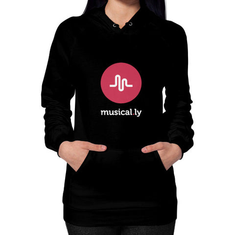 'musical.ly fan' Women's Hoodie Black AshoppingZ.com