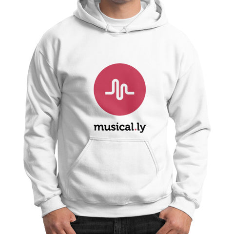 'musical.ly' Men's Gildan Hoodie White AshoppingZ.com