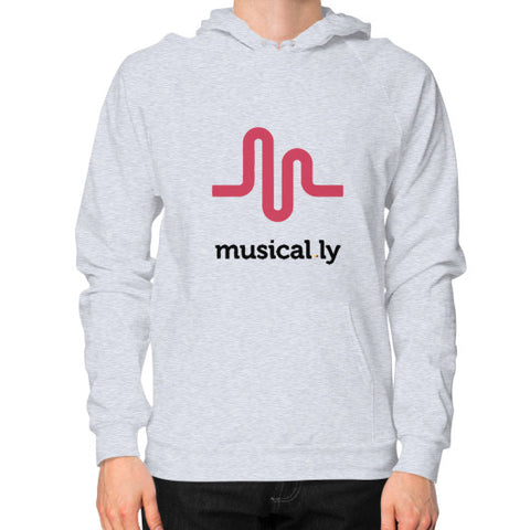 'musical.ly' Men's Hoodie Heather grey AshoppingZ.com