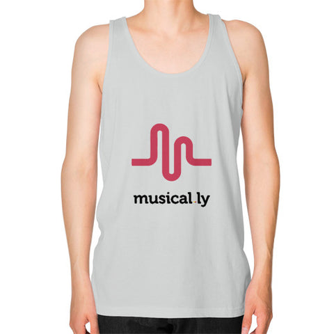 'musical.ly' Men's Tank-Top Silver AshoppingZ.com