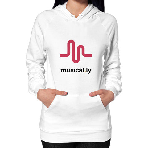 'musical.ly' Women's Hoodie White AshoppingZ.com