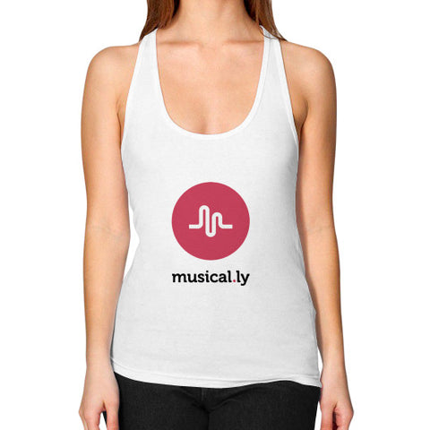 'musical.ly' Women's Racerback Tank-Top White AshoppingZ.com