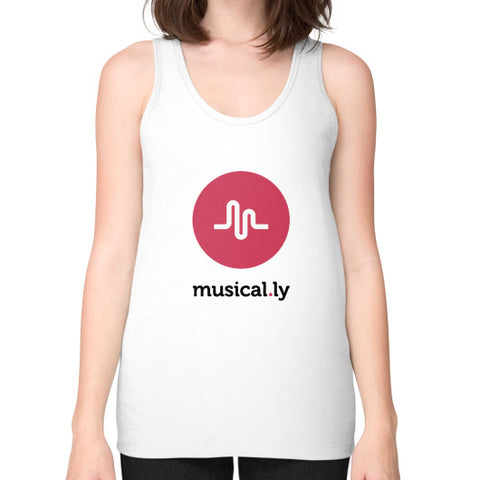 'musical.ly' Women's Tank-top White AshoppingZ.com