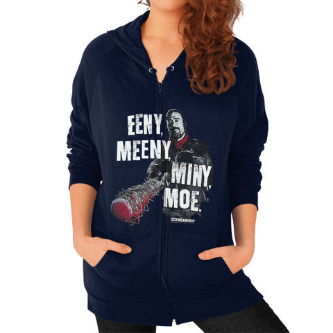 """This Is Lucille - She Is Awesome"" -- The Walking Dead Women's Zip Hoodie Navy AshoppingZ.com"