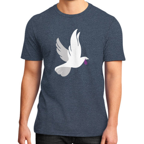 """When Doves Shed Purple Tears or Cry Rain"" Men's District T-Shirt Heather navy AshoppingZ.com"