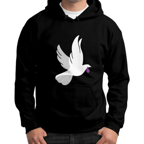 """When Doves Shed Purple Tears or Cry Rain"" Men's Gildan Hoodie Black AshoppingZ.com"