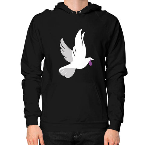 """When Doves Shed Purple Tears or Cry Rain"" Men's Hoodie Black AshoppingZ.com"