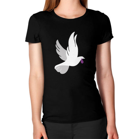 """When Doves Shed Purple Tears or Cry Rain"" Women's T-shirt Black AshoppingZ.com"
