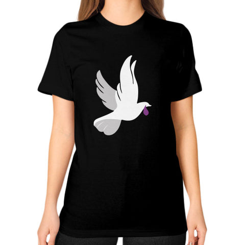 """When Doves Shed Purple Tears or Cry Rain"" Women's Unisex T-shirt Black AshoppingZ.com"
