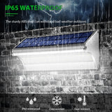 LED Wall Light Solar Powered PIR Motion Sensor Waterproof IP65