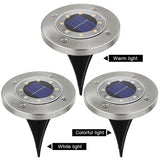 LED Outdoor Solar Power Garden Lights Waterproof In-Ground for Pathway
