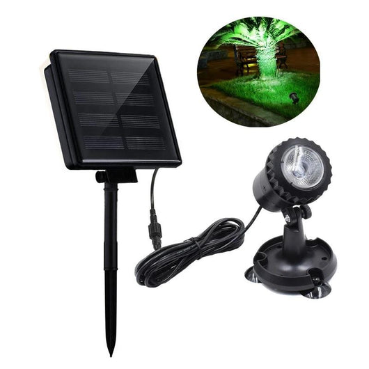 One Head Solar Powered Spotlight 4 Color to Choose Underwater Submersible Solar Lamps
