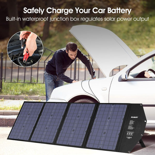 100W Solar Panel Foldable Charger Type-C USB DC Output for Outdoor Phone/Tablet/Laptop/Car Battery