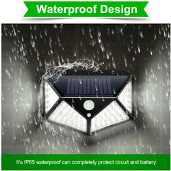 LED Solar Wall Light With Motion Sensor Waterproof