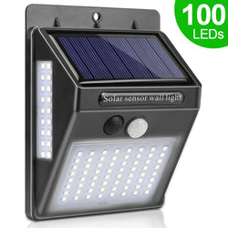 100 LED Solar Wall Light Waterproof With Motion Sensor