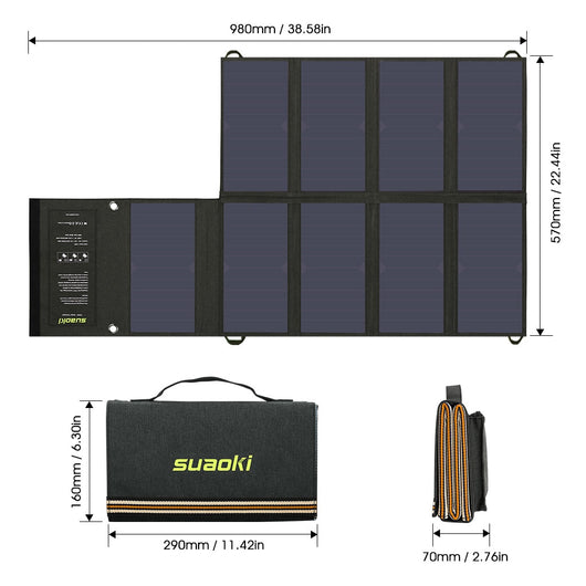 60W Solar Panel Foldable Charger Mobile Power Bank for Phone Car Laptop Battery Charger