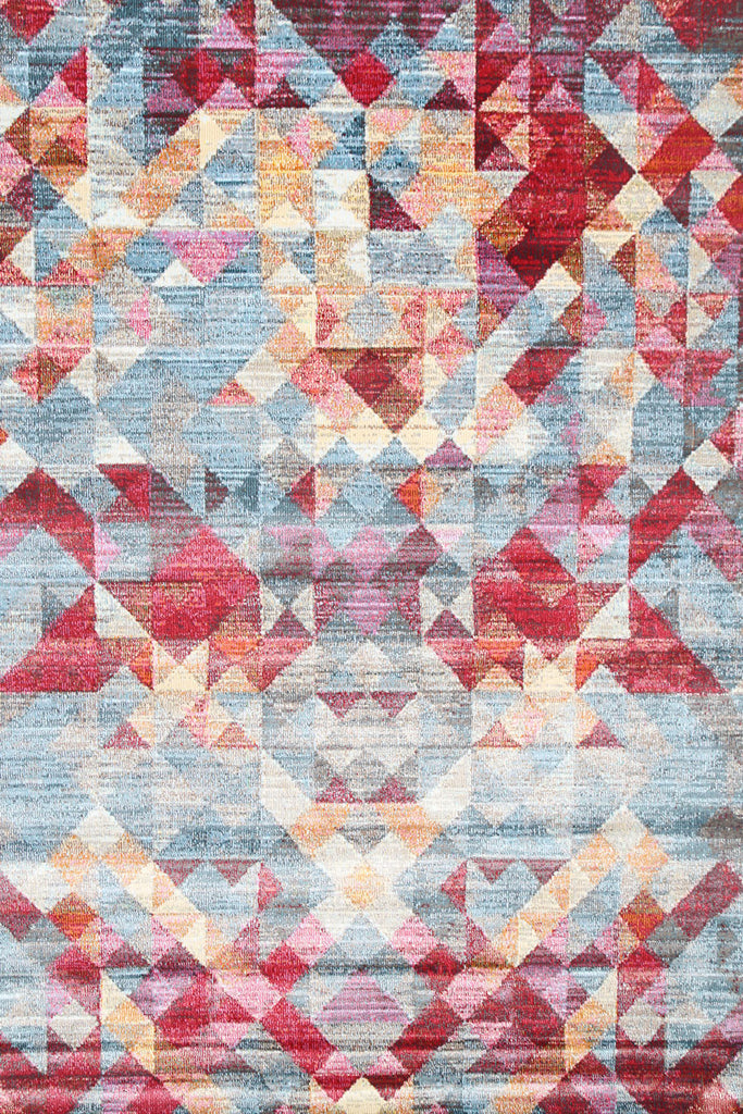 Pomona Geometric Triangles Multi Coloured Rug