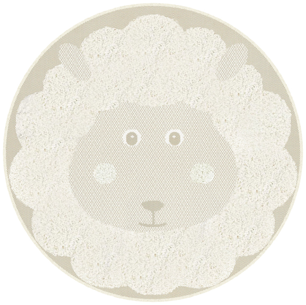 Ashby Lamb Kids Round Rug