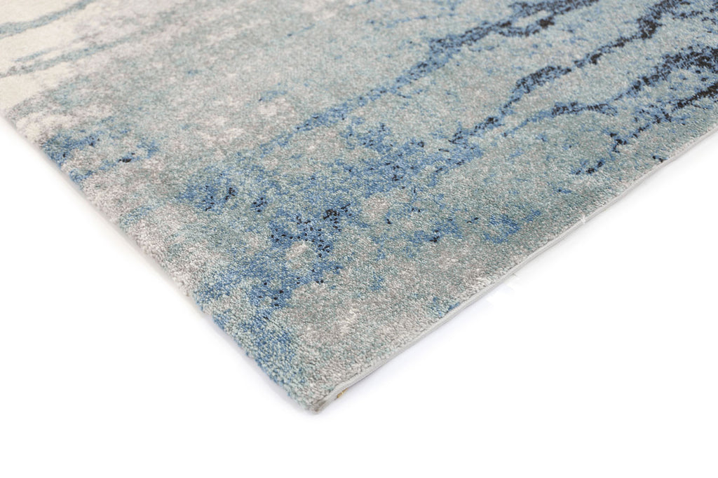 Grace Blue Abstract Rug