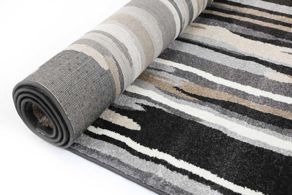Grace Brown Grey Abstract Rug