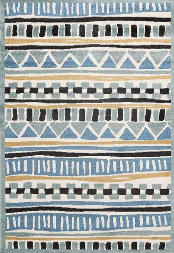 Bodhi Tribal Blue Yellow Rug