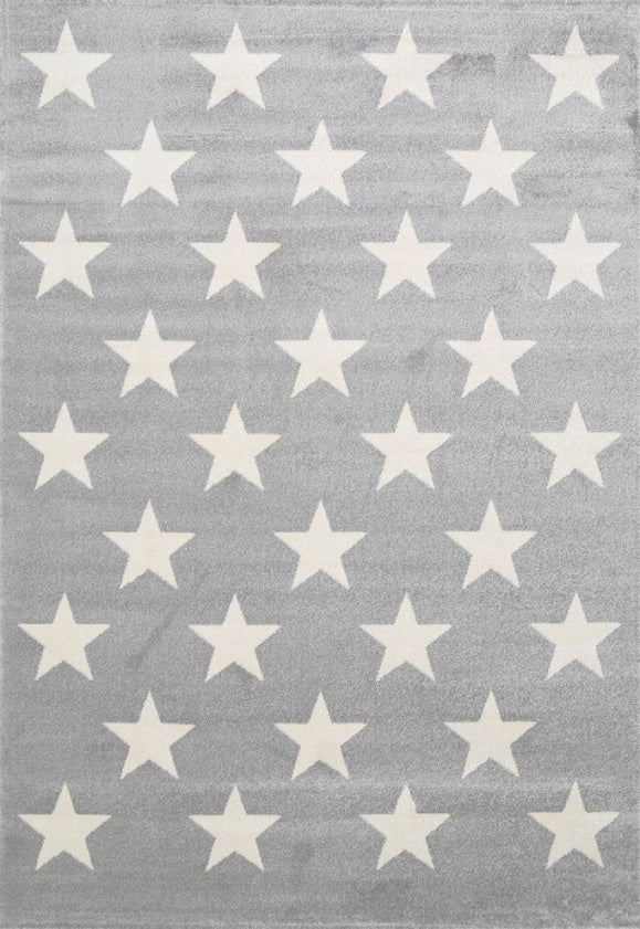 Bodhi Stars Light Grey White Rug