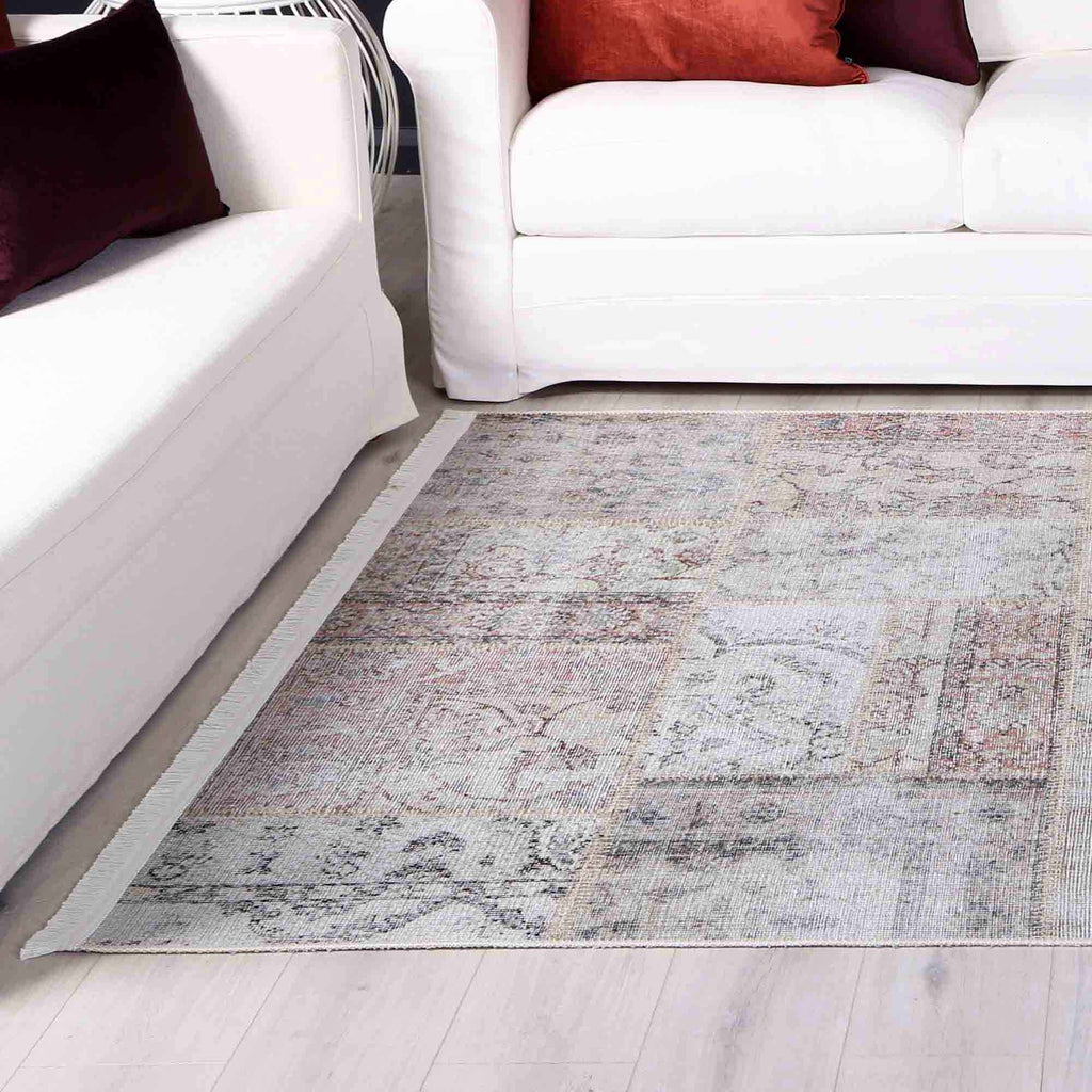 Louise Traditional Vintage Multicolour Modern Floor Rug