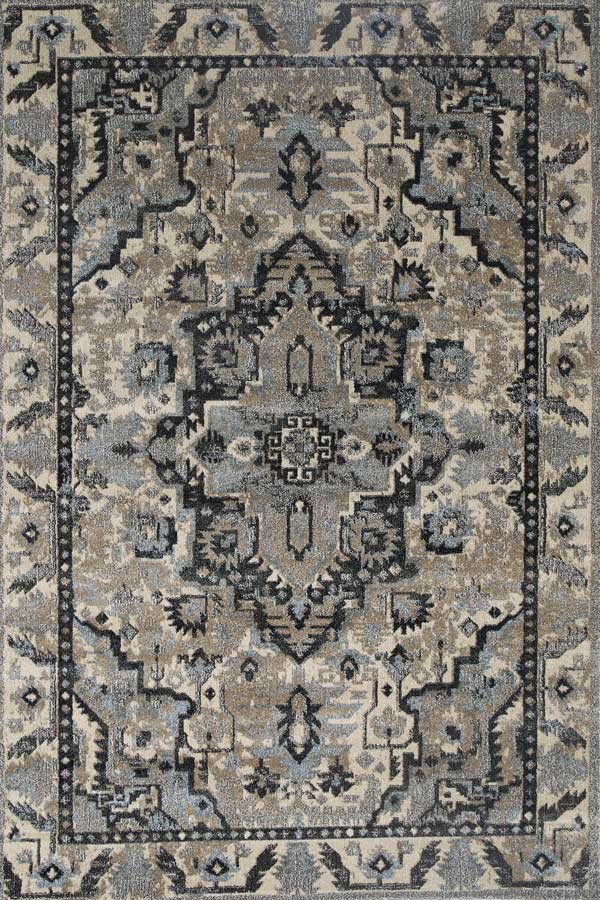 Axel Oriental Blue Beige Traditional Floor Rug