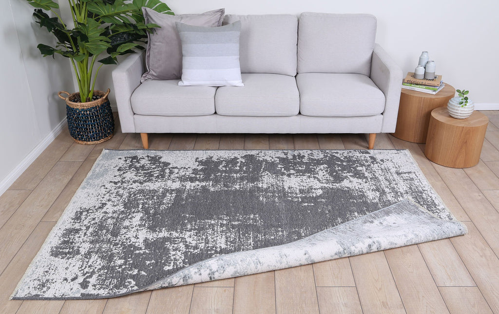 Georgia Abstract Reversible Grey Rug