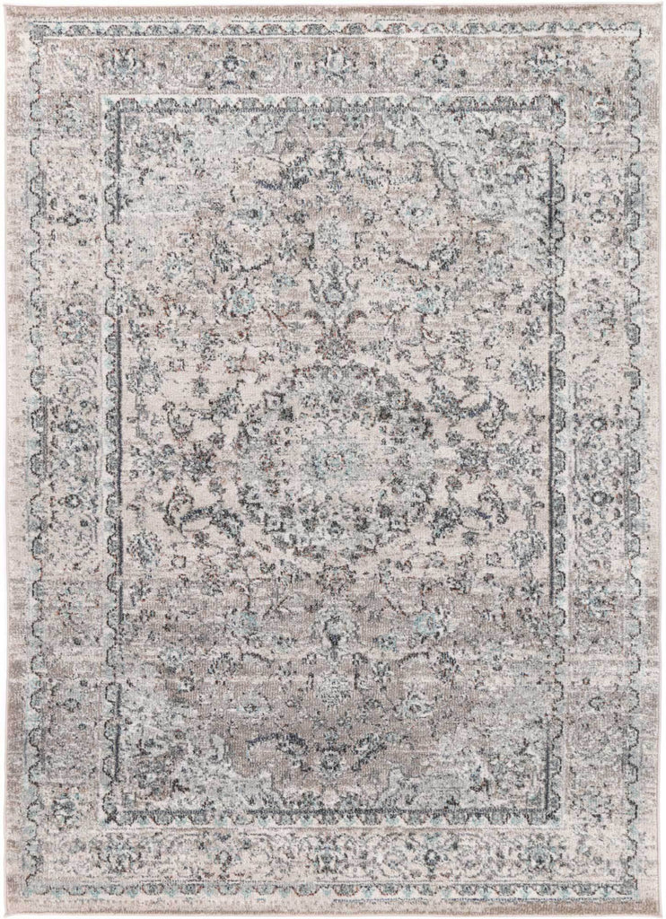 Everett Oriental Inspired Grey Traditional Rug