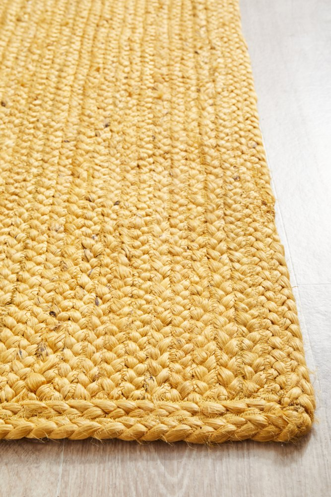 Sandridge Hand Braided Jute Yellow Modern Runner Rug