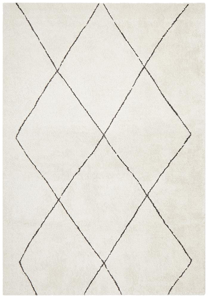Aldrin Transitional Diamond Ivory Rug - Coconapple_7