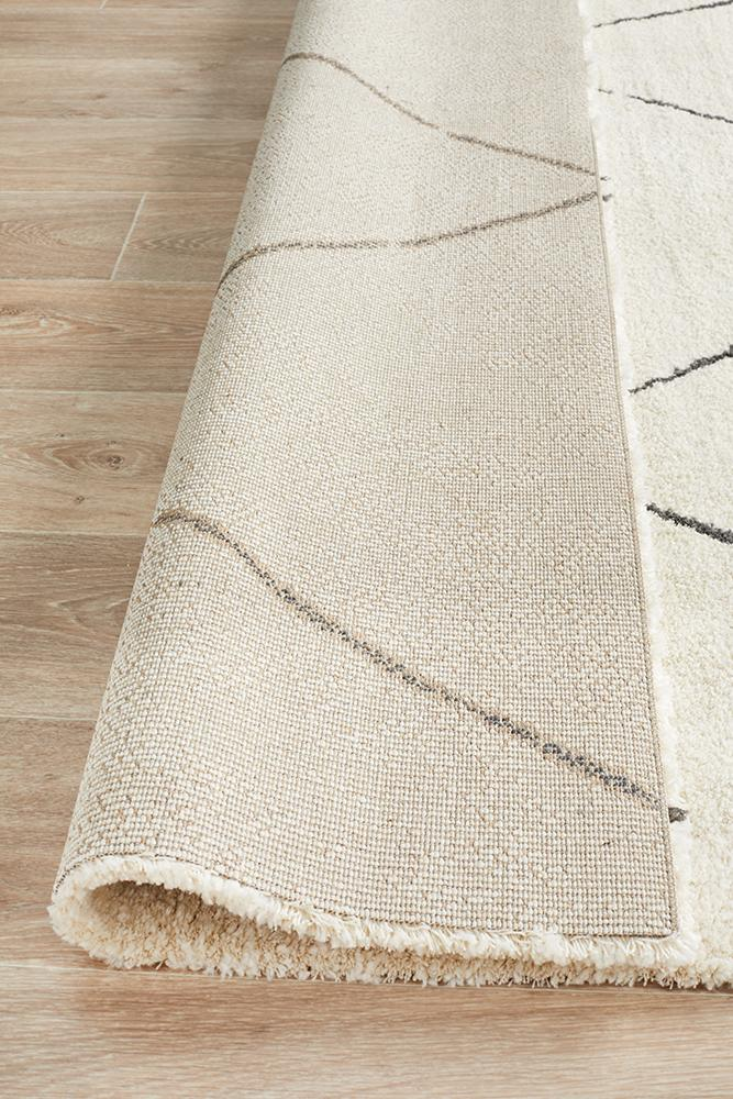 Aldrin Transitional Diamond Ivory Rug - Coconapple_8