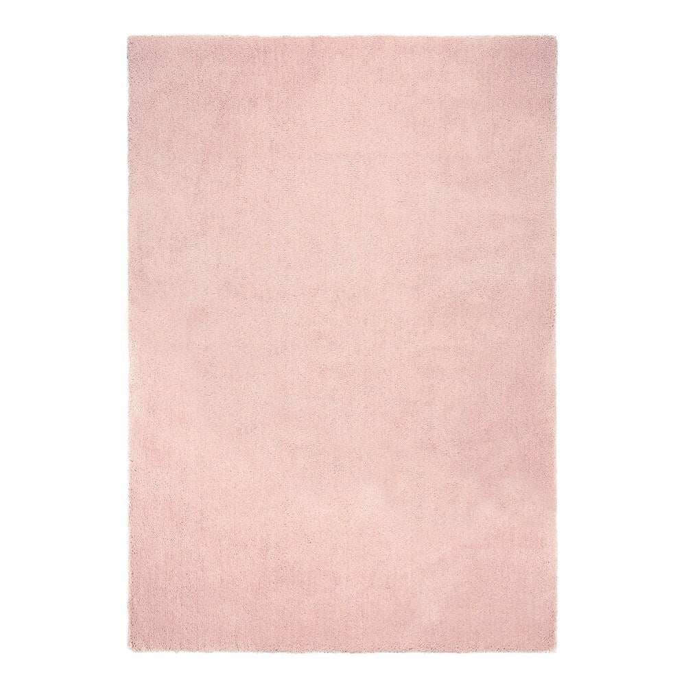 Thirsk Soft Cloud Domino Blush Pink Shaggy Rug