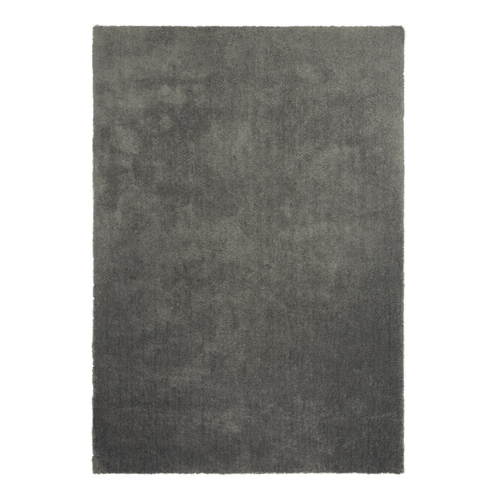 Thirsk Soft Cloud Domino Dark Grey Shaggy Rug