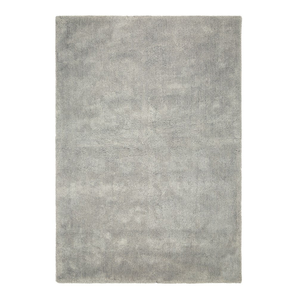 Thirsk Soft Cloud Domino Steel Grey Shaggy Rug