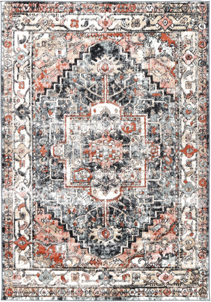 Villandry Heirloom Grey Charcoal Traditional Rug