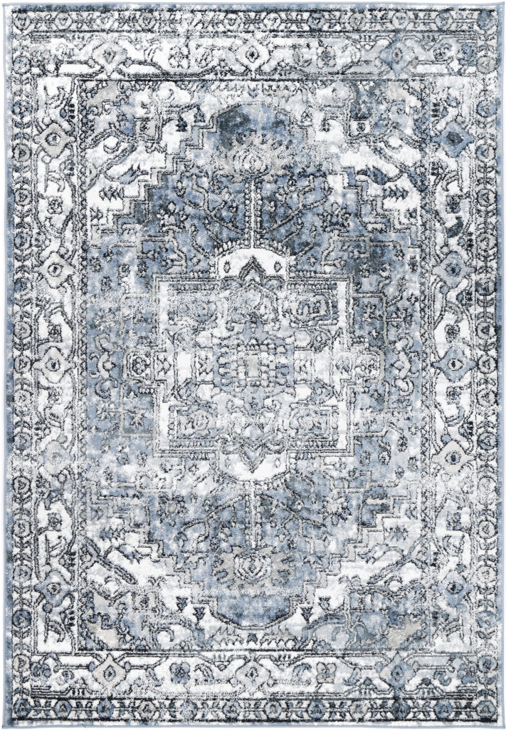Villandry Heirloom Faded Blue Traditional Rug