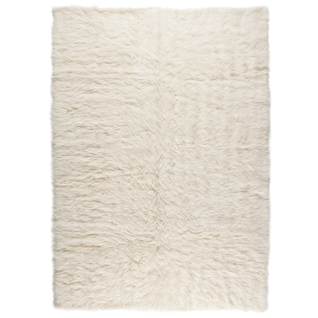 Flokati Natural Wool Hand-Made Shag Rug
