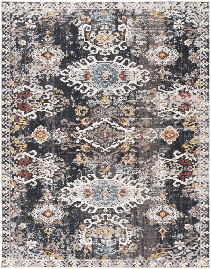 Levisa Oriental Dark Blue Traditional Rug