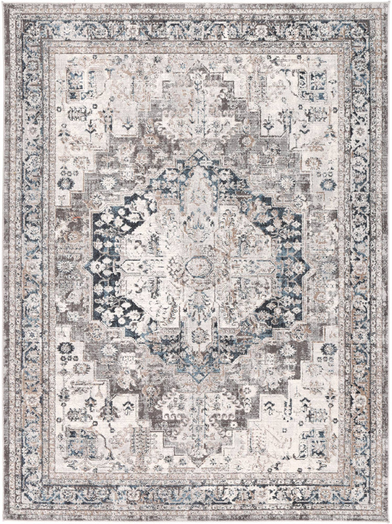 Levisa Oriental Silver Cream Traditional Rug