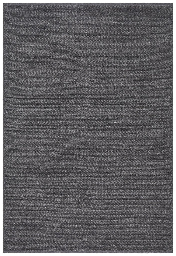 Hazel Charcoal Textured Modern Floor Rug