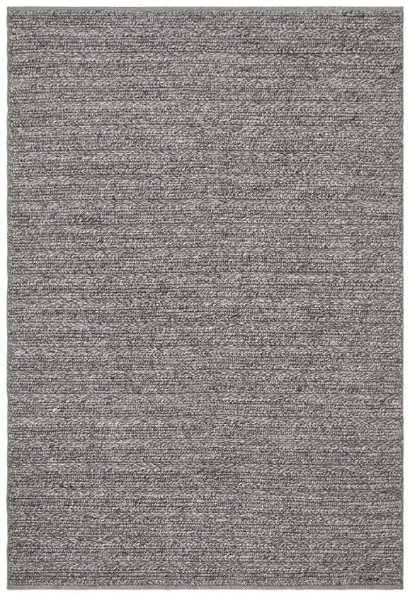 Hazel Steel Grey Textured Modern Floor Rug