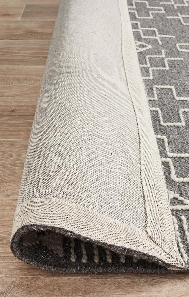 Rhone Grey Hand Loomed Wool Rug