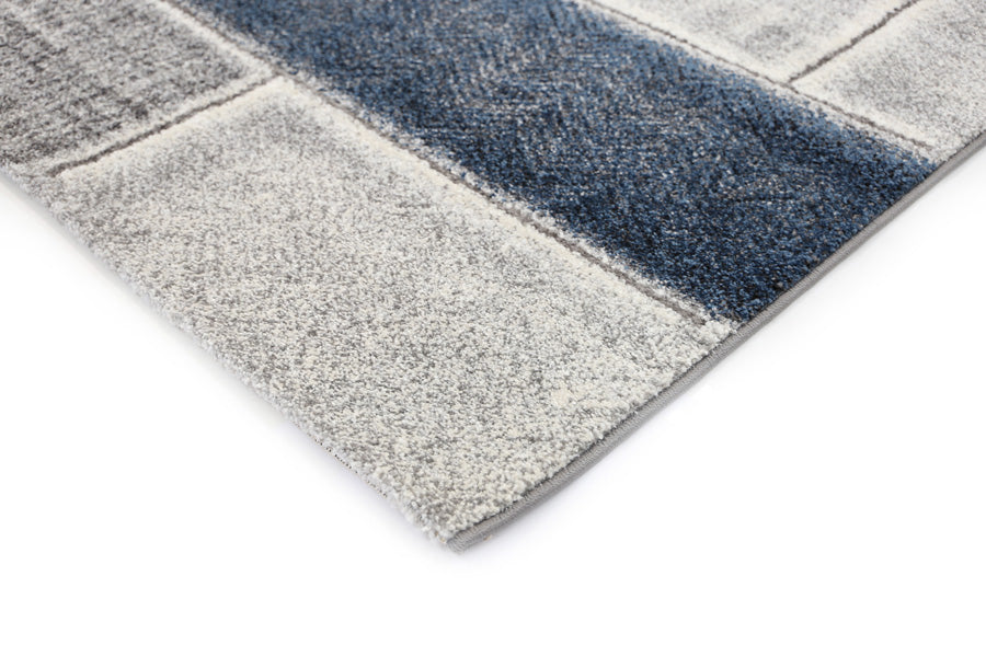 Valencia Textured Blue Grey Rug