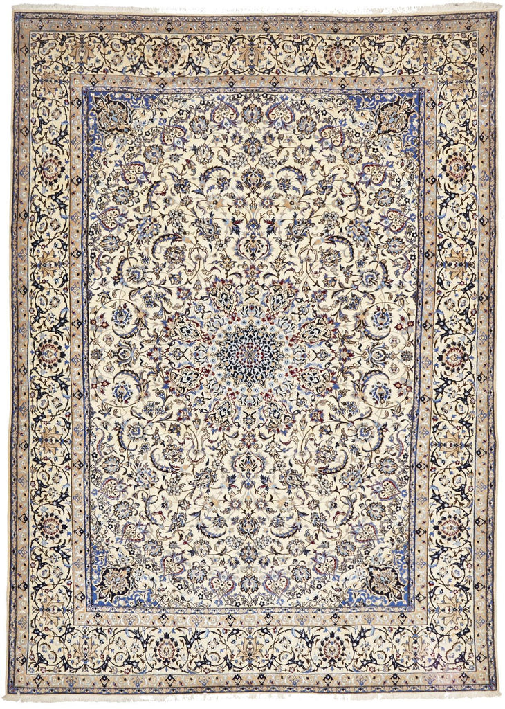 Traditional Naein Persian Rug - Size: 254x353cm - Coconapple